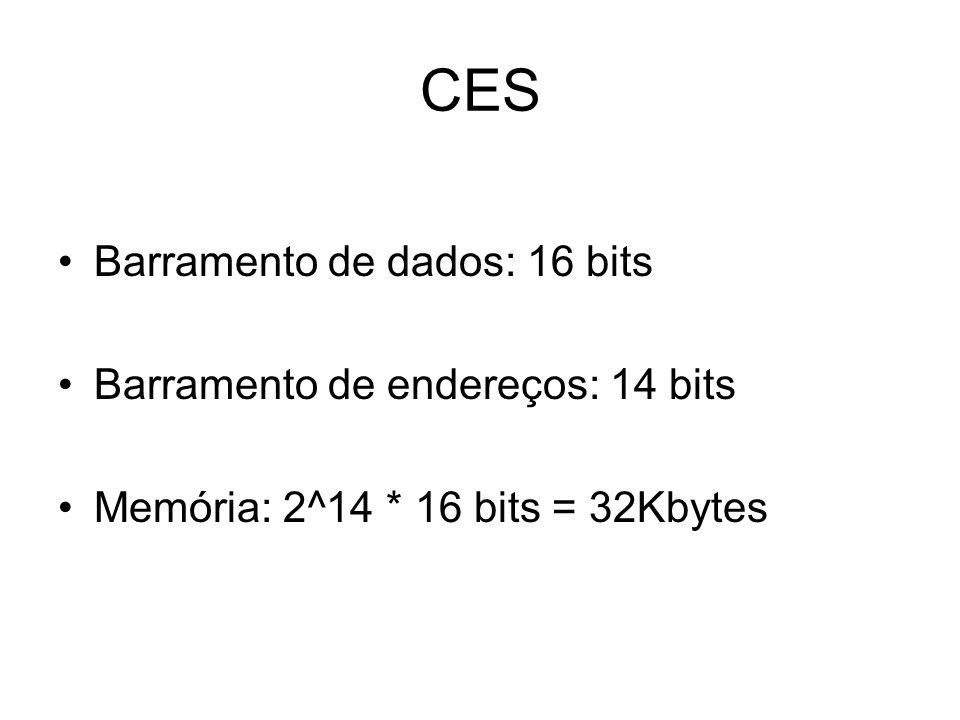 CES Barramento de dados: 16 bits Barramento de endereços: 14 bits