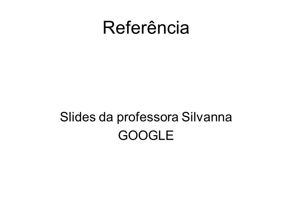 Slides da professora Silvanna