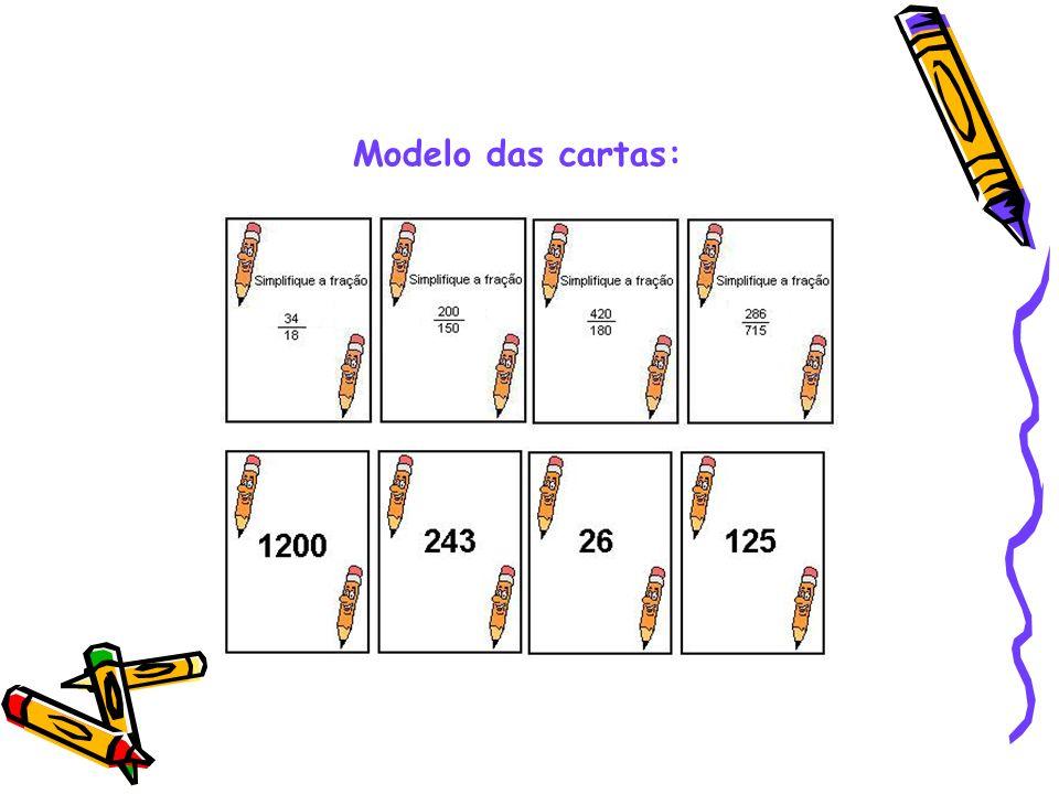 Modelo das cartas: