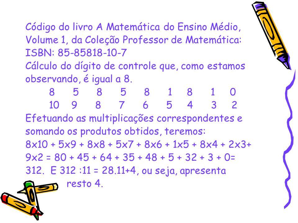 Código do livro A Matemática do Ensino Médio,