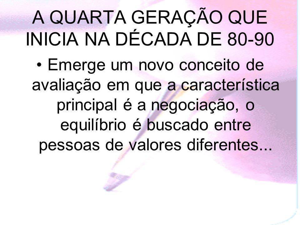 A QUARTA GERAÇÃO QUE INICIA NA DÉCADA DE 80-90