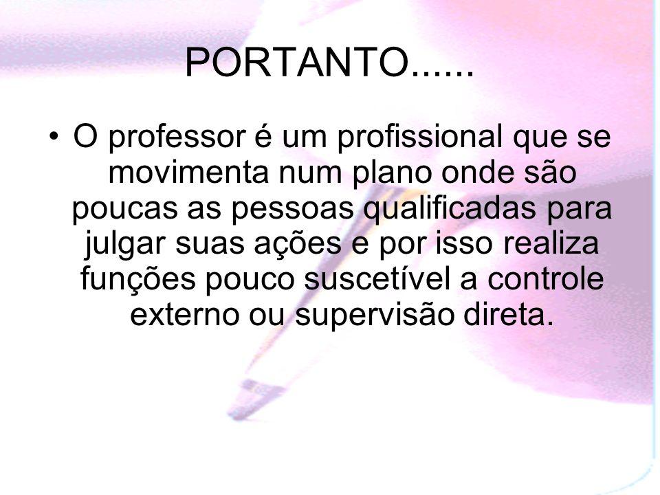 PORTANTO......