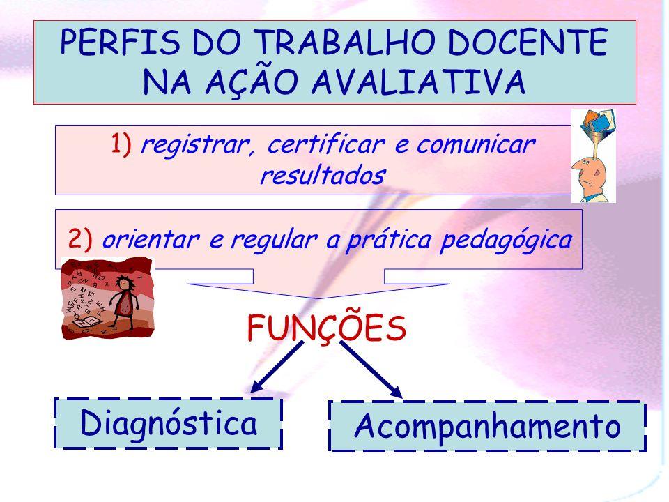 PERFIS DO TRABALHO DOCENTE NA AÇÃO AVALIATIVA