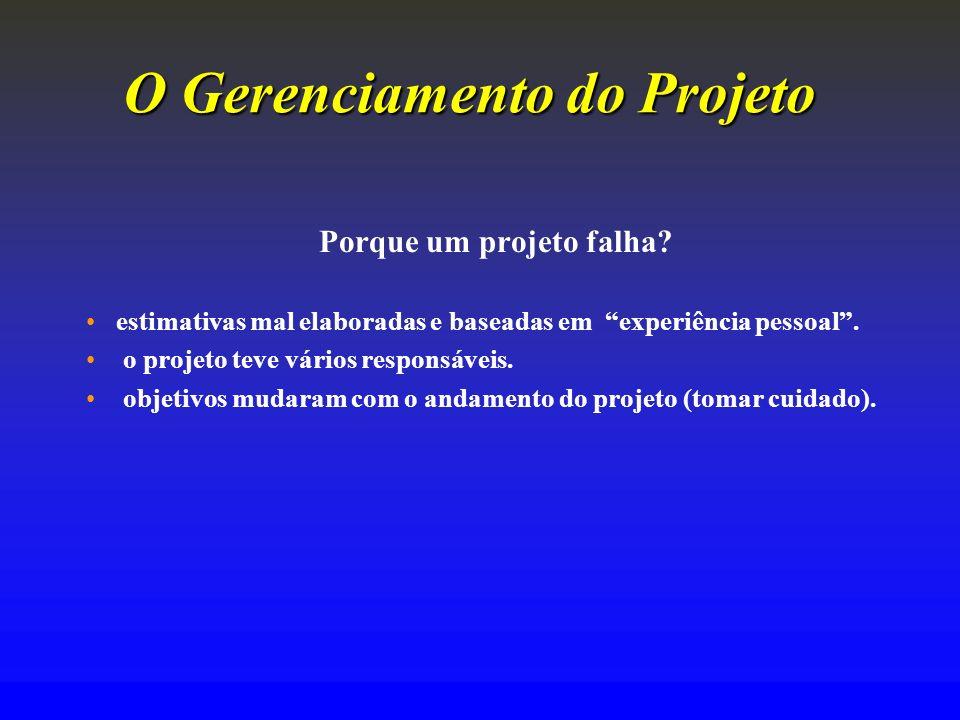 O Gerenciamento do Projeto