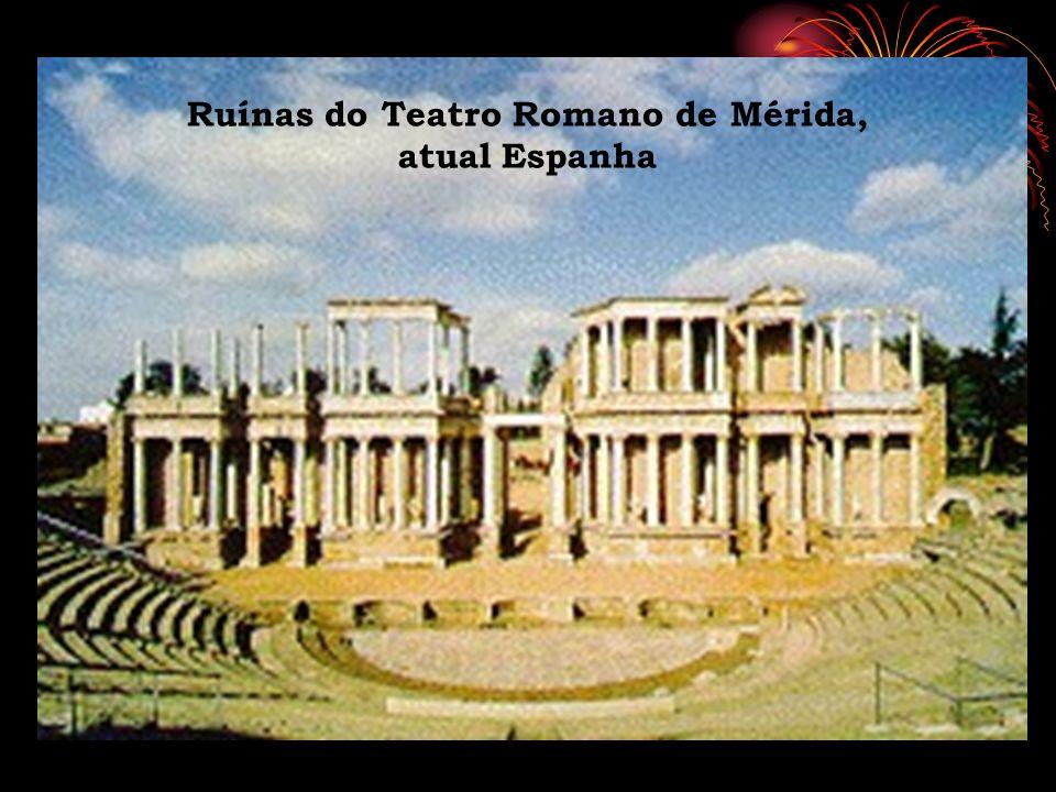 Ruínas do Teatro Romano de Mérida, atual Espanha
