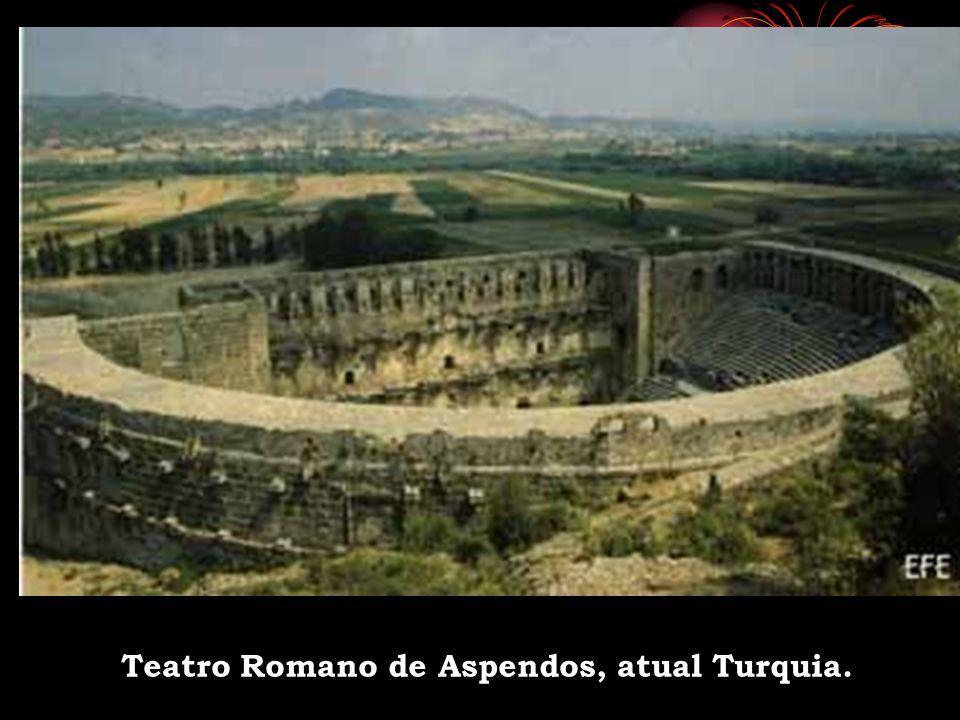 Teatro Romano de Aspendos, atual Turquia.