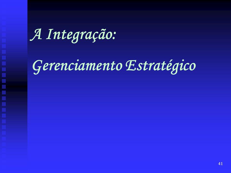 A Integração: Gerenciamento Estratégico