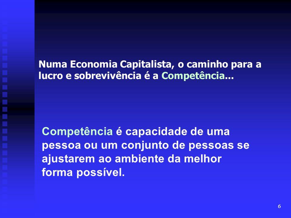 Numa Economia Capitalista, o caminho para a lucro e sobrevivência é a Competência...