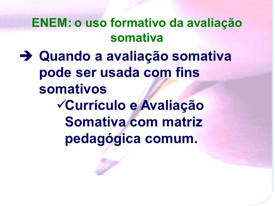 ENEM: o uso formativo da avaliação somativa