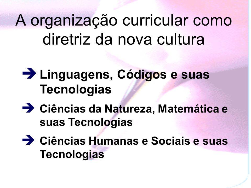 A organização curricular como diretriz da nova cultura