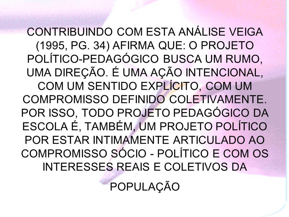 CONTRIBUINDO COM ESTA ANÁLISE VEIGA (1995, PG
