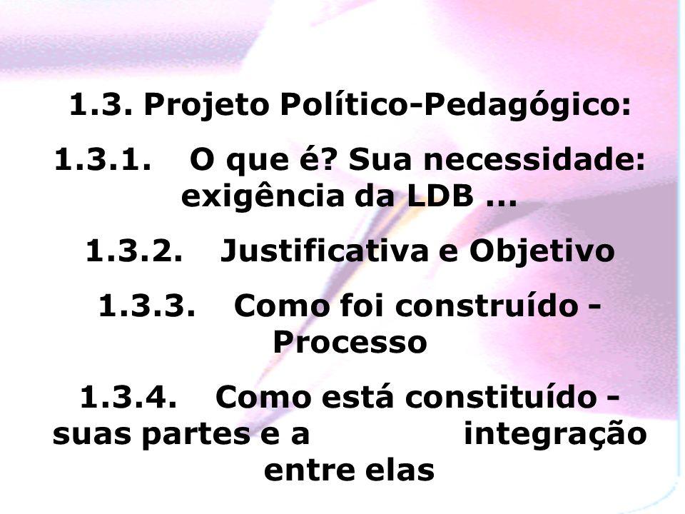 1.3. Projeto Político-Pedagógico: