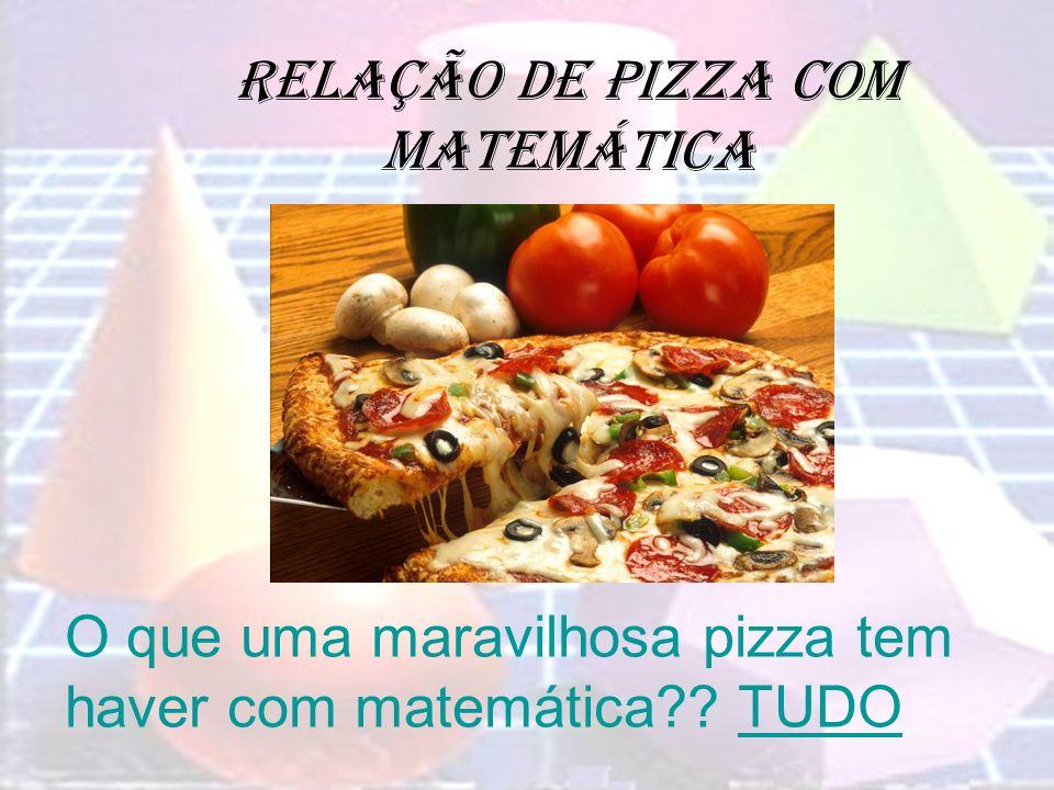 Relação de pizza com matemática