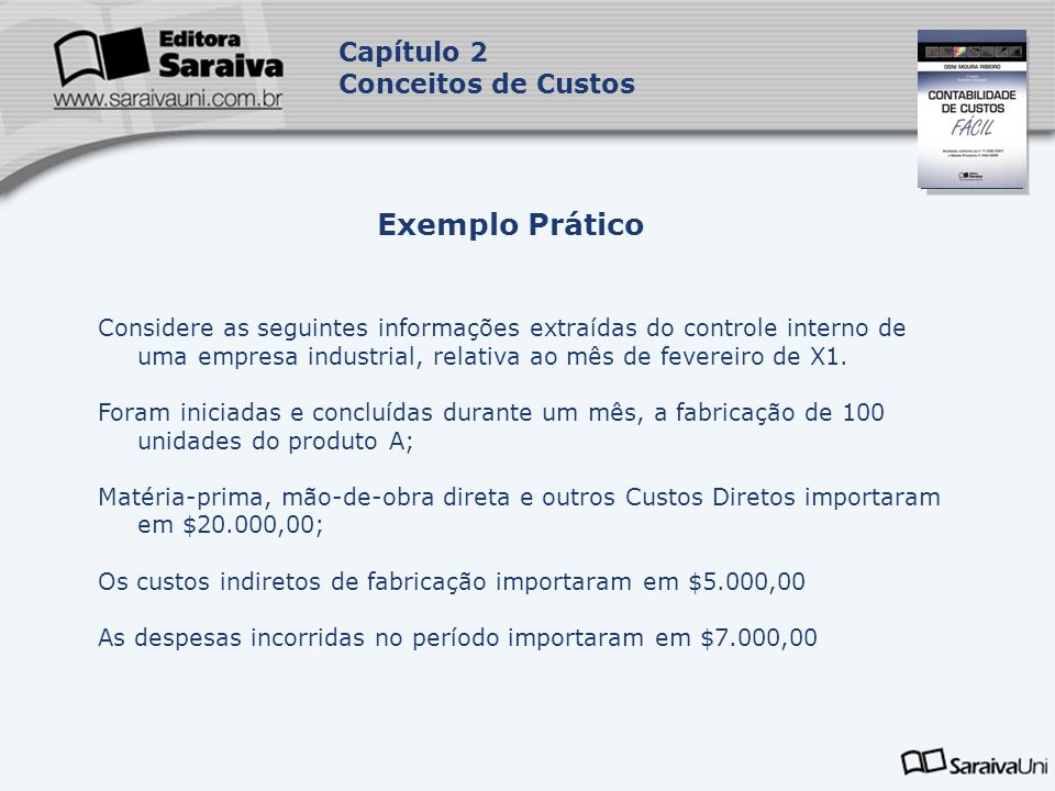 Exemplo Prático Capítulo 2 Conceitos de Custos