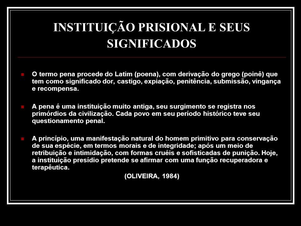 INSTITUIÇÃO PRISIONAL E SEUS SIGNIFICADOS