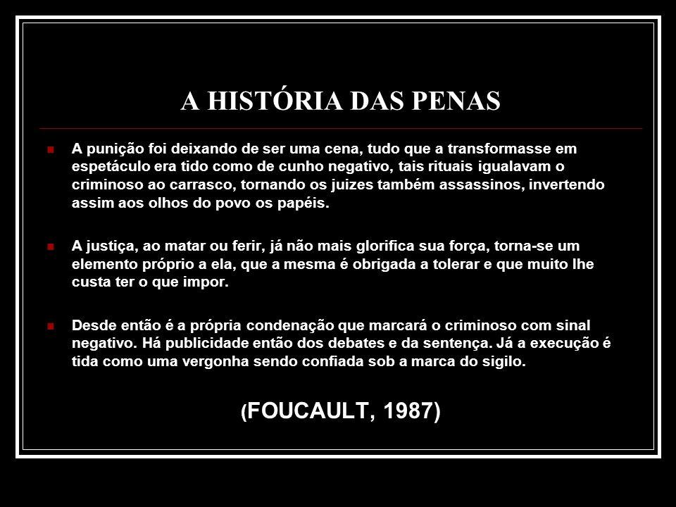 A HISTÓRIA DAS PENAS (FOUCAULT, 1987)