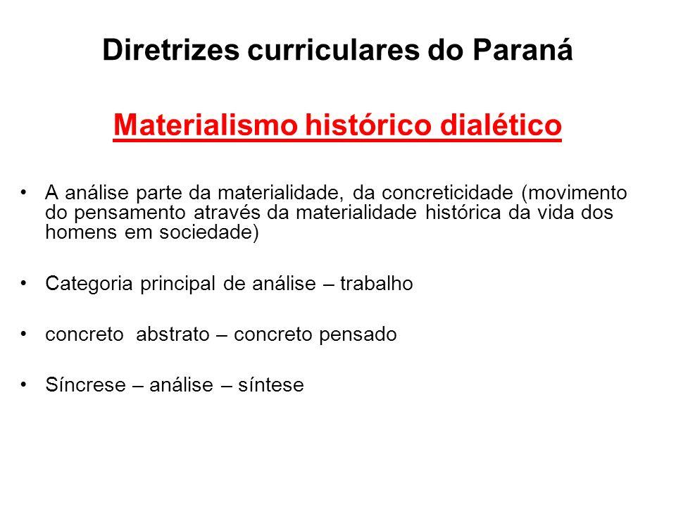 Diretrizes curriculares do Paraná
