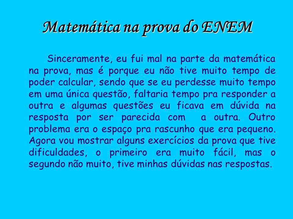Matemática na prova do ENEM