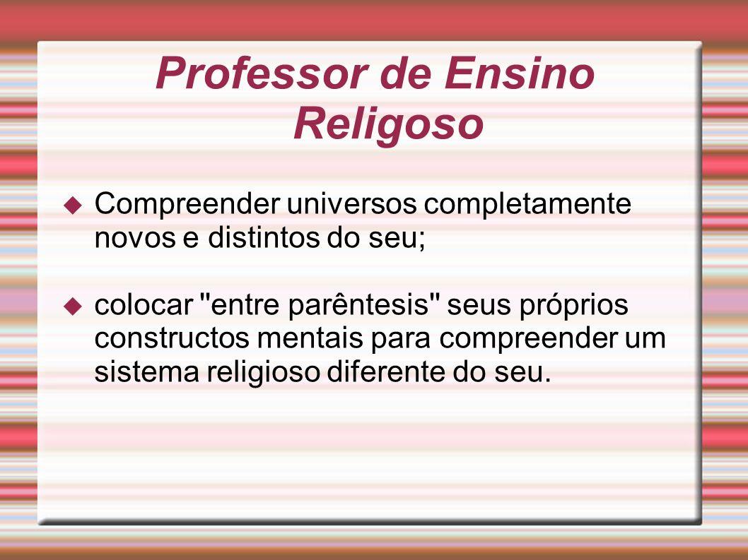 Professor de Ensino Religoso