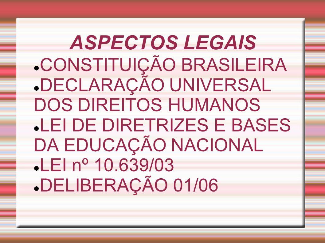 ASPECTOS LEGAIS CONSTITUIÇÃO BRASILEIRA