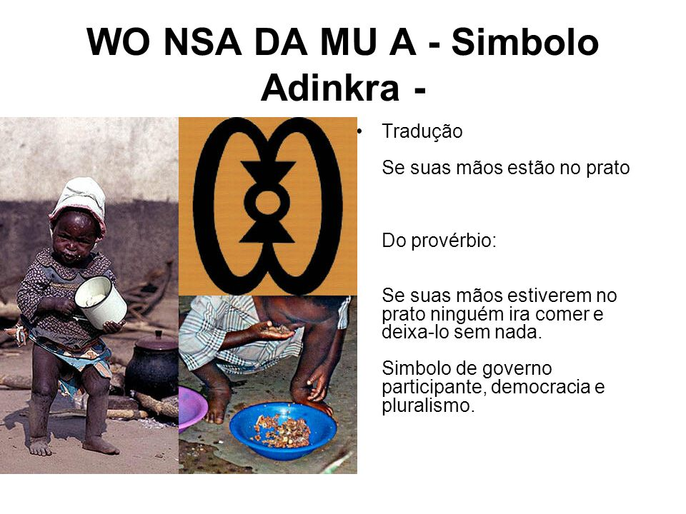 WO NSA DA MU A - Simbolo Adinkra -