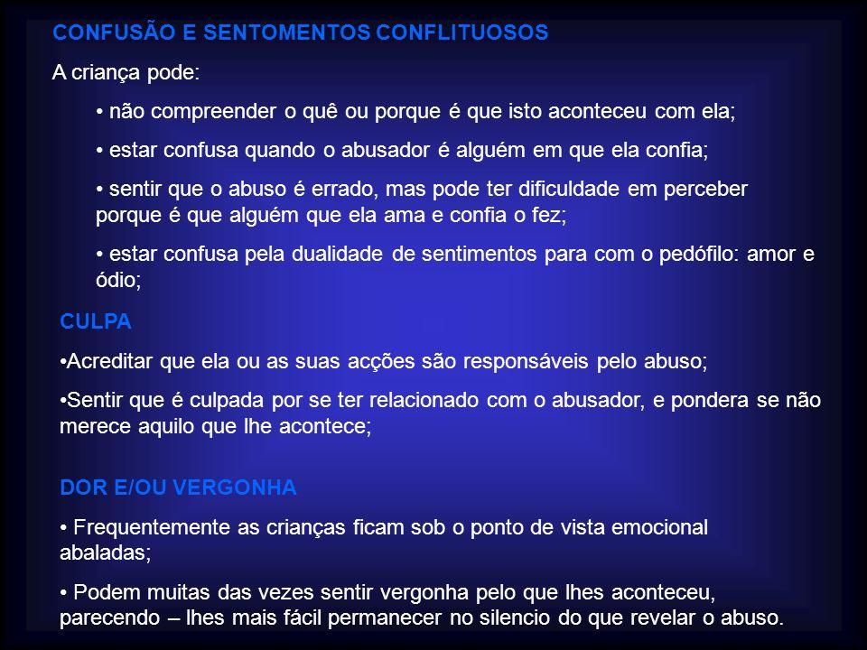 CONFUSÃO E SENTOMENTOS CONFLITUOSOS