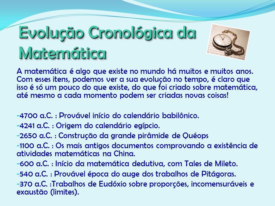 Evolução Cronológica da Matemática