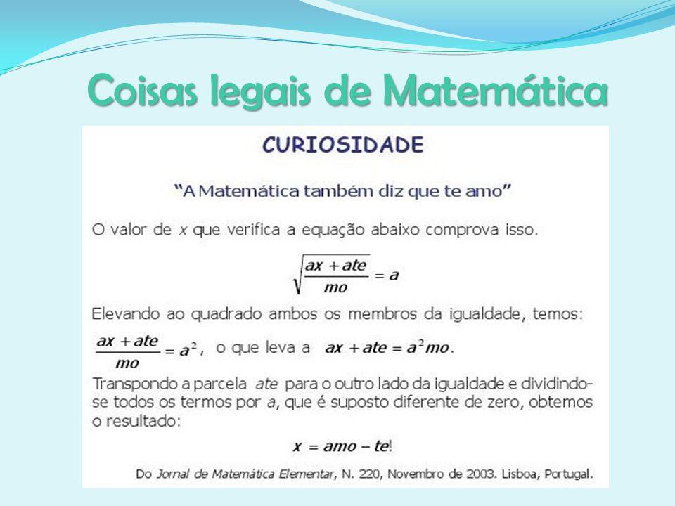 Coisas legais de Matemática