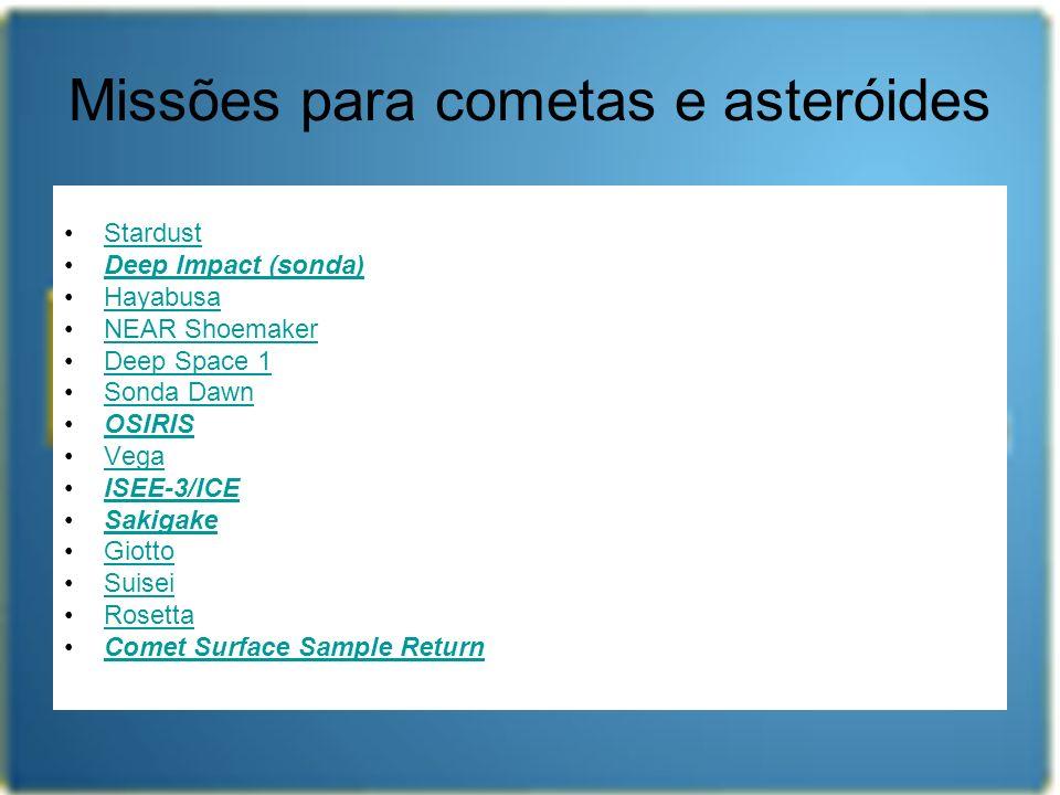 Missões para cometas e asteróides
