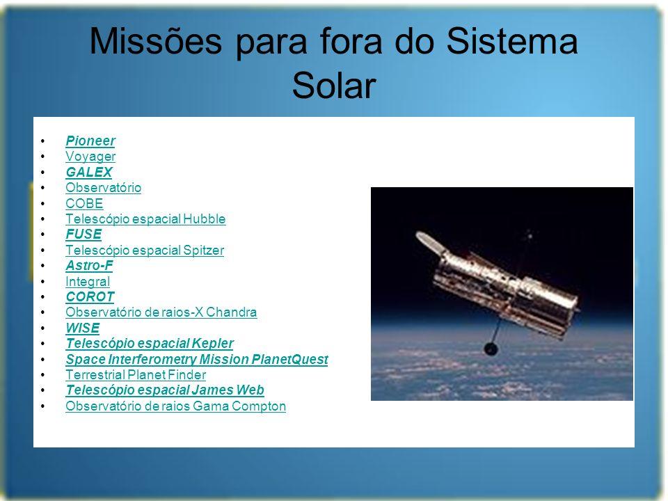 Missões para fora do Sistema Solar