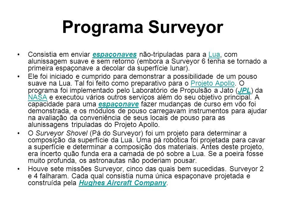 Programa Surveyor