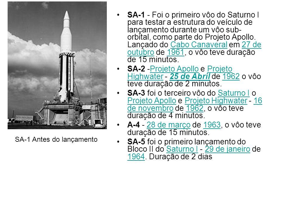 A-4 - 28 de março de 1963, o vôo teve duração de 15 minutos.