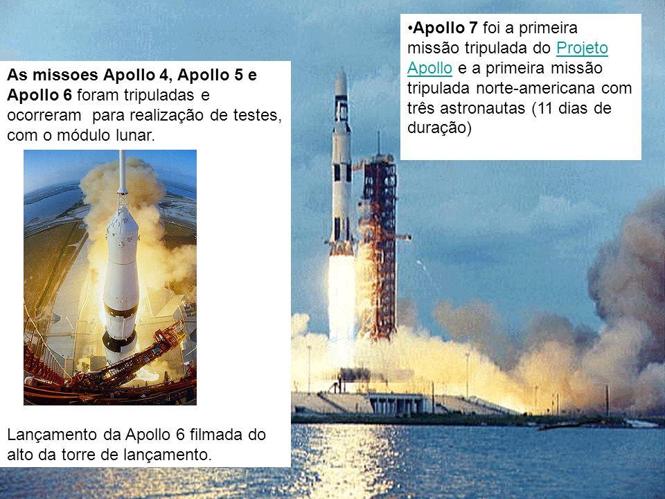 Apollo 7 foi a primeira missão tripulada do Projeto Apollo e a primeira missão tripulada norte-americana com três astronautas (11 dias de duração)