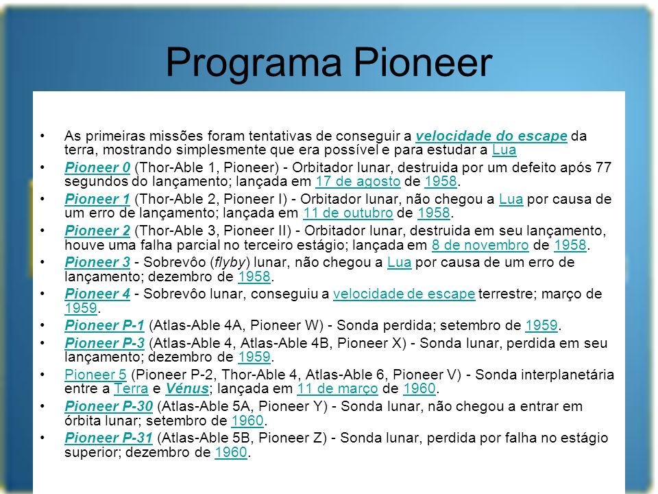 Programa Pioneer