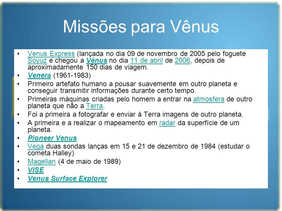 Missões para Vênus