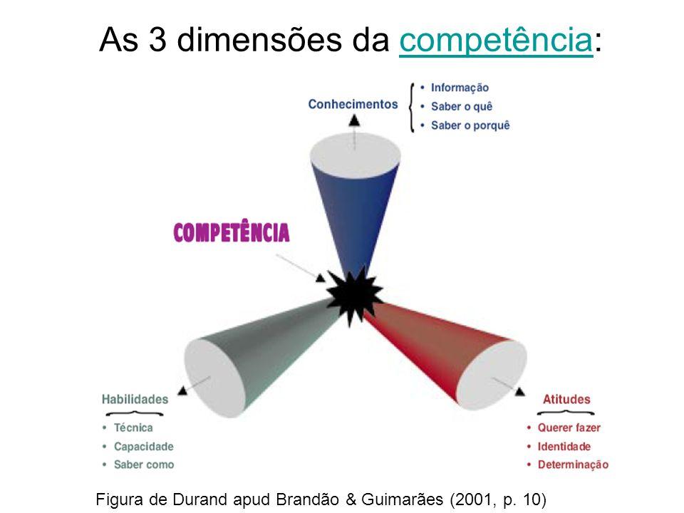 As 3 dimensões da competência: