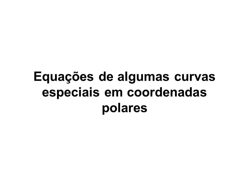 Equações de algumas curvas especiais em coordenadas polares