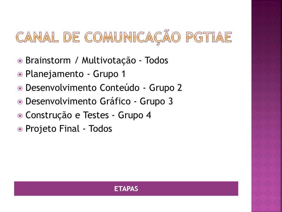 Canal de comunicação PGTIAE