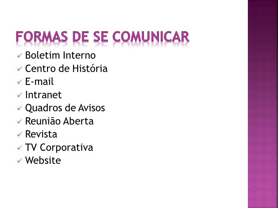 formas de se comunicar Boletim Interno Centro de História E-mail