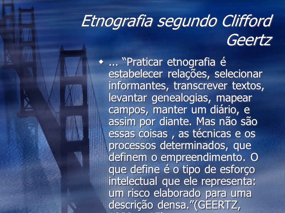 Etnografia segundo Clifford Geertz