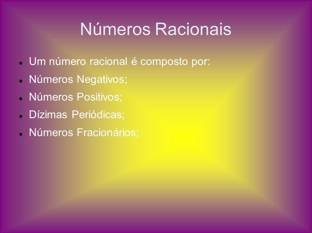 Números Racionais Um número racional é composto por: