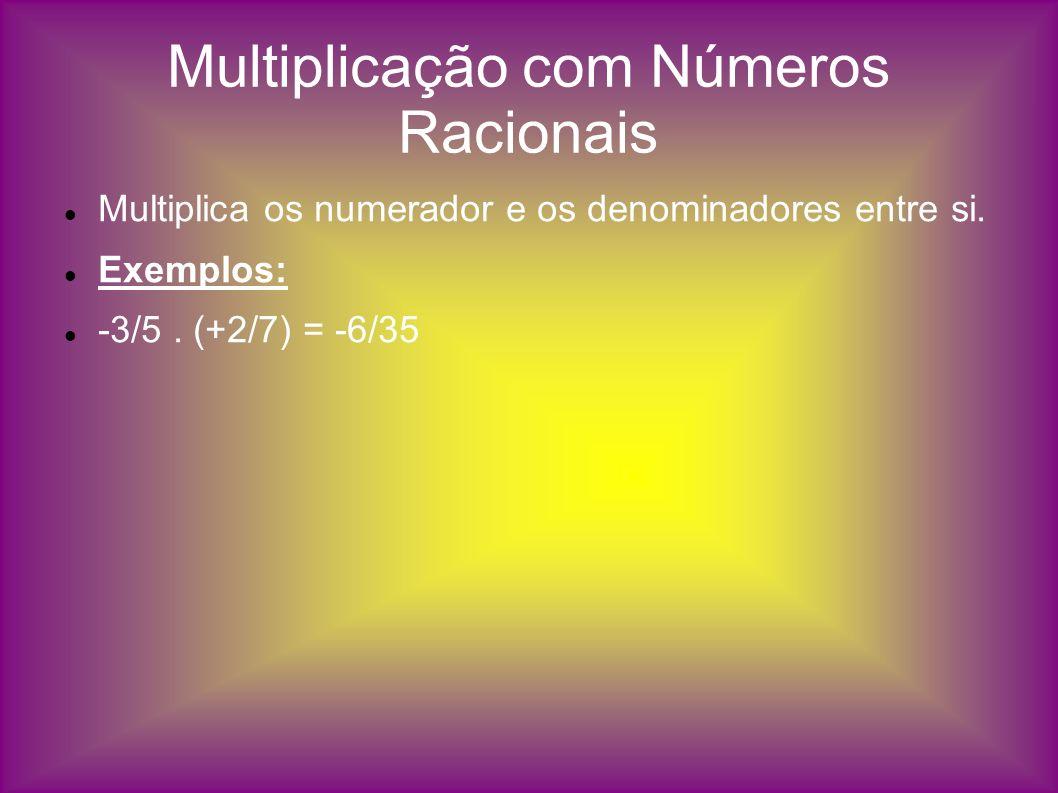 Multiplicação com Números Racionais