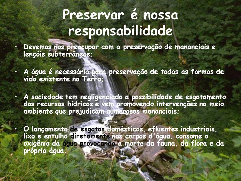 Preservar é nossa responsabilidade