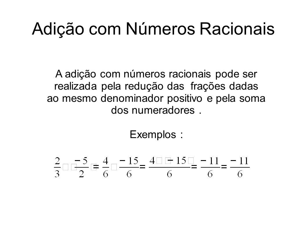 Adição com Números Racionais