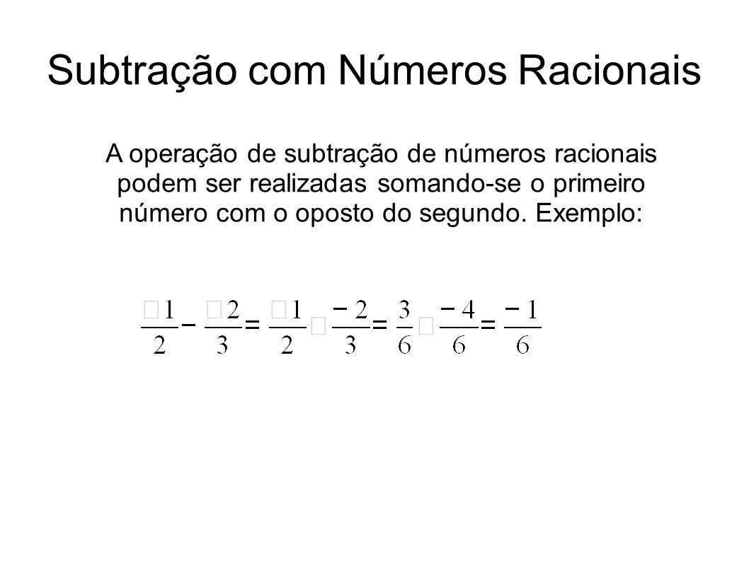 Subtração com Números Racionais