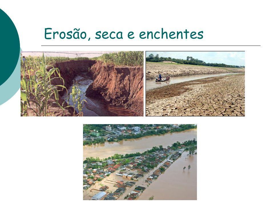 Erosão, seca e enchentes