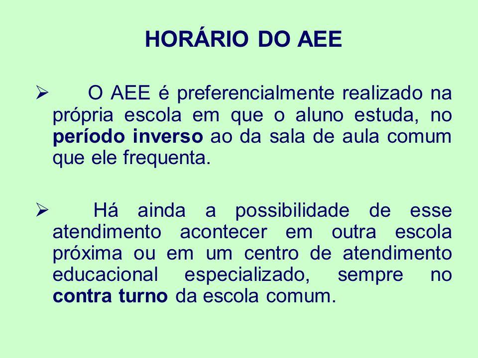 HORÁRIO DO AEE