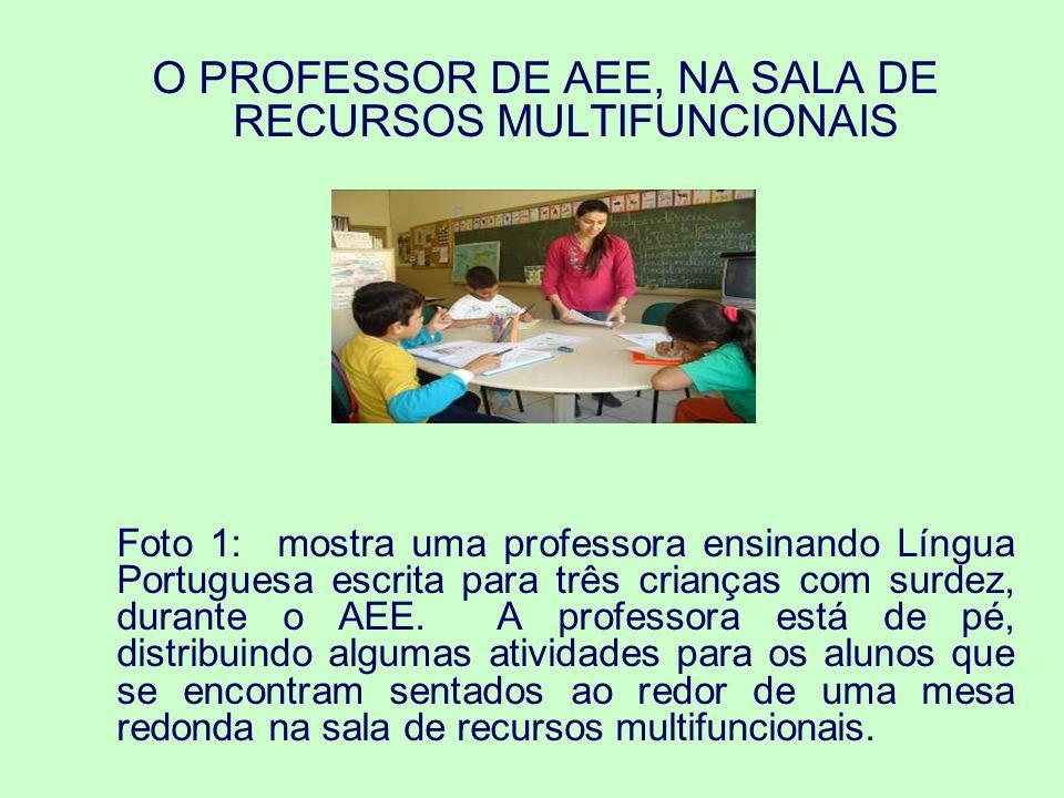 O PROFESSOR DE AEE, NA SALA DE RECURSOS MULTIFUNCIONAIS