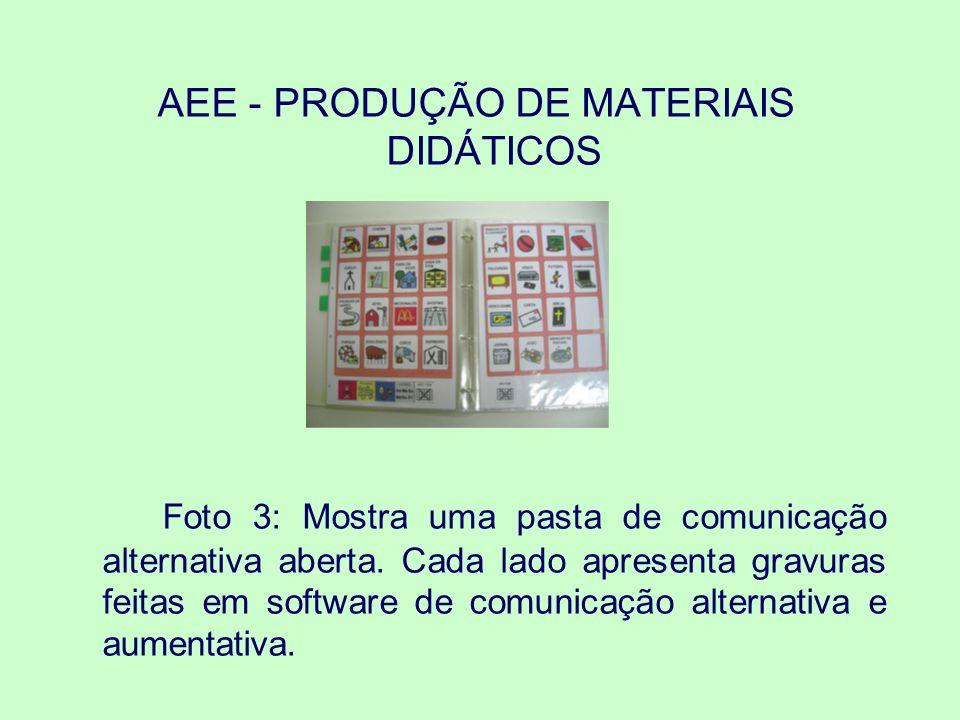 AEE - PRODUÇÃO DE MATERIAIS DIDÁTICOS