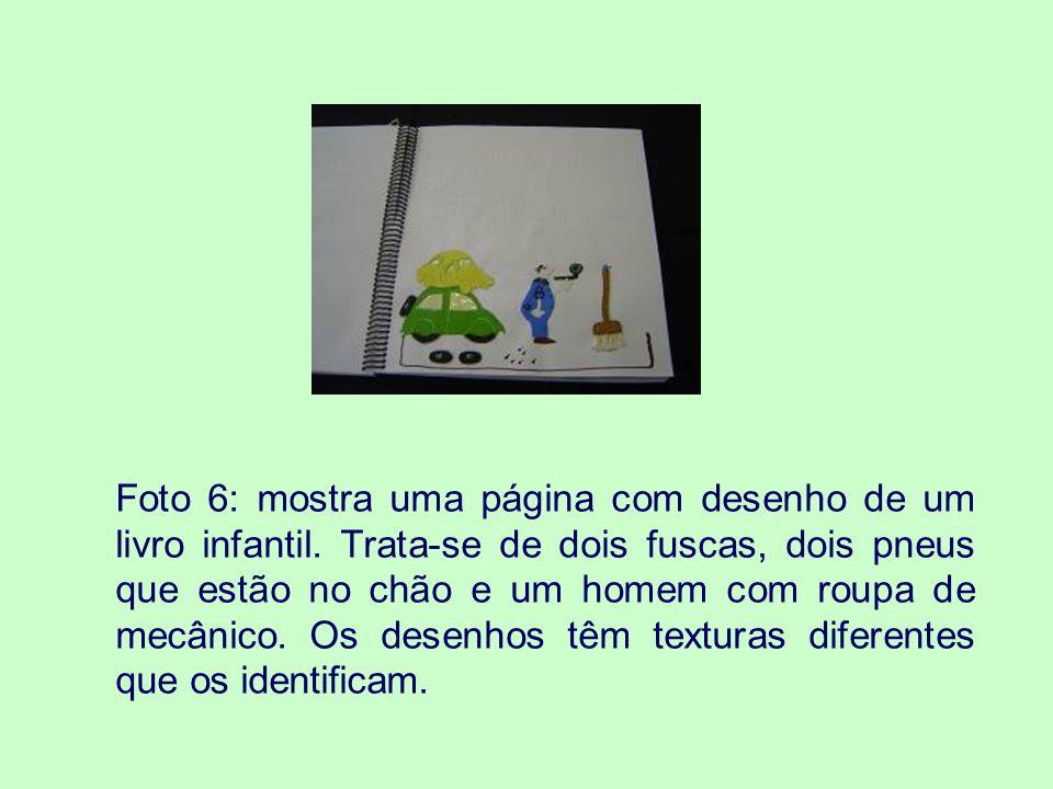 Foto 6: mostra uma página com desenho de um livro infantil